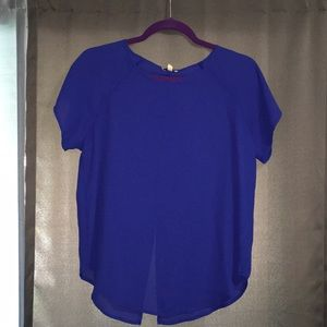🥂Classic slightly sheer perfect royal blue blouse